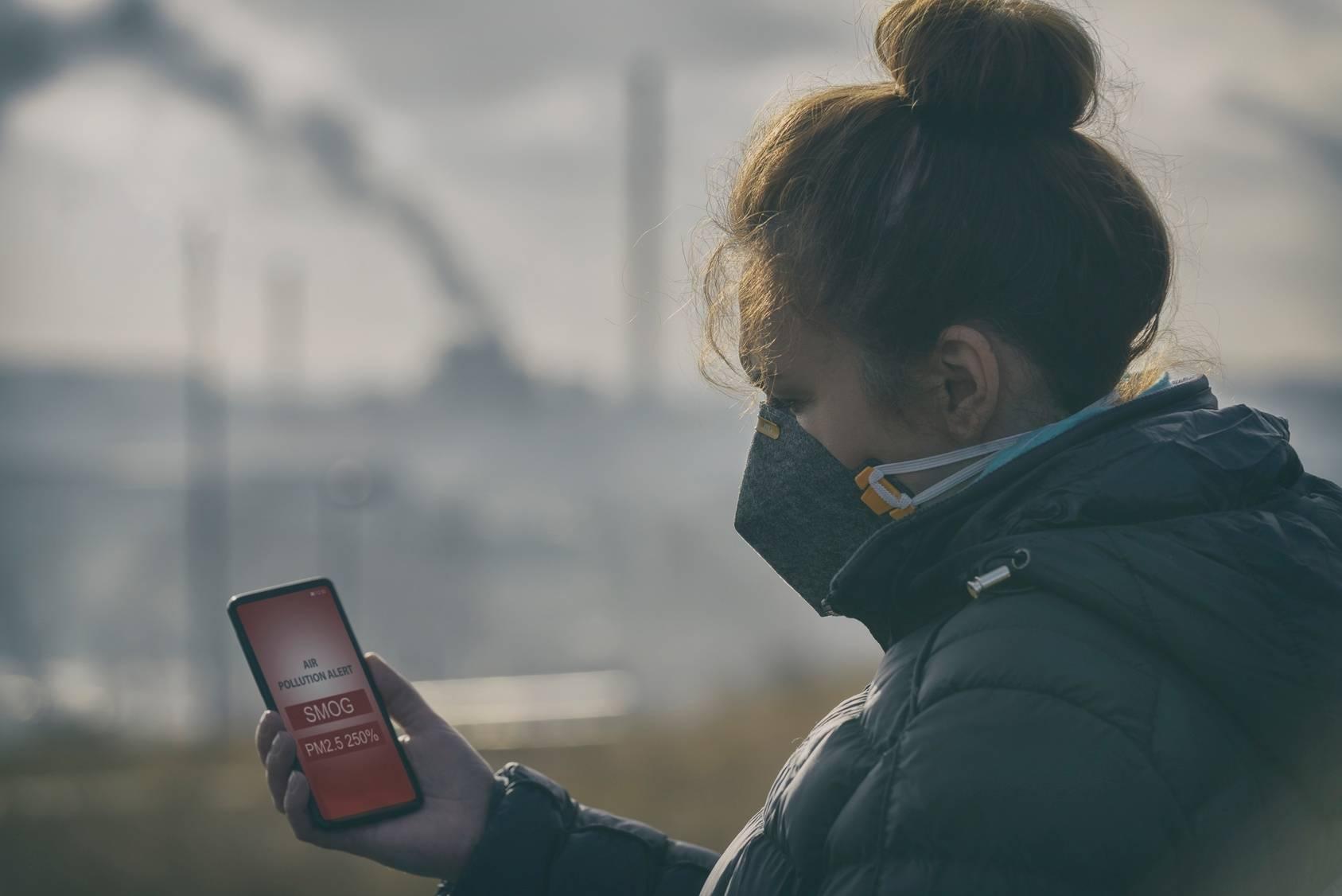 Alert smogowy - aplikacja na telefon.