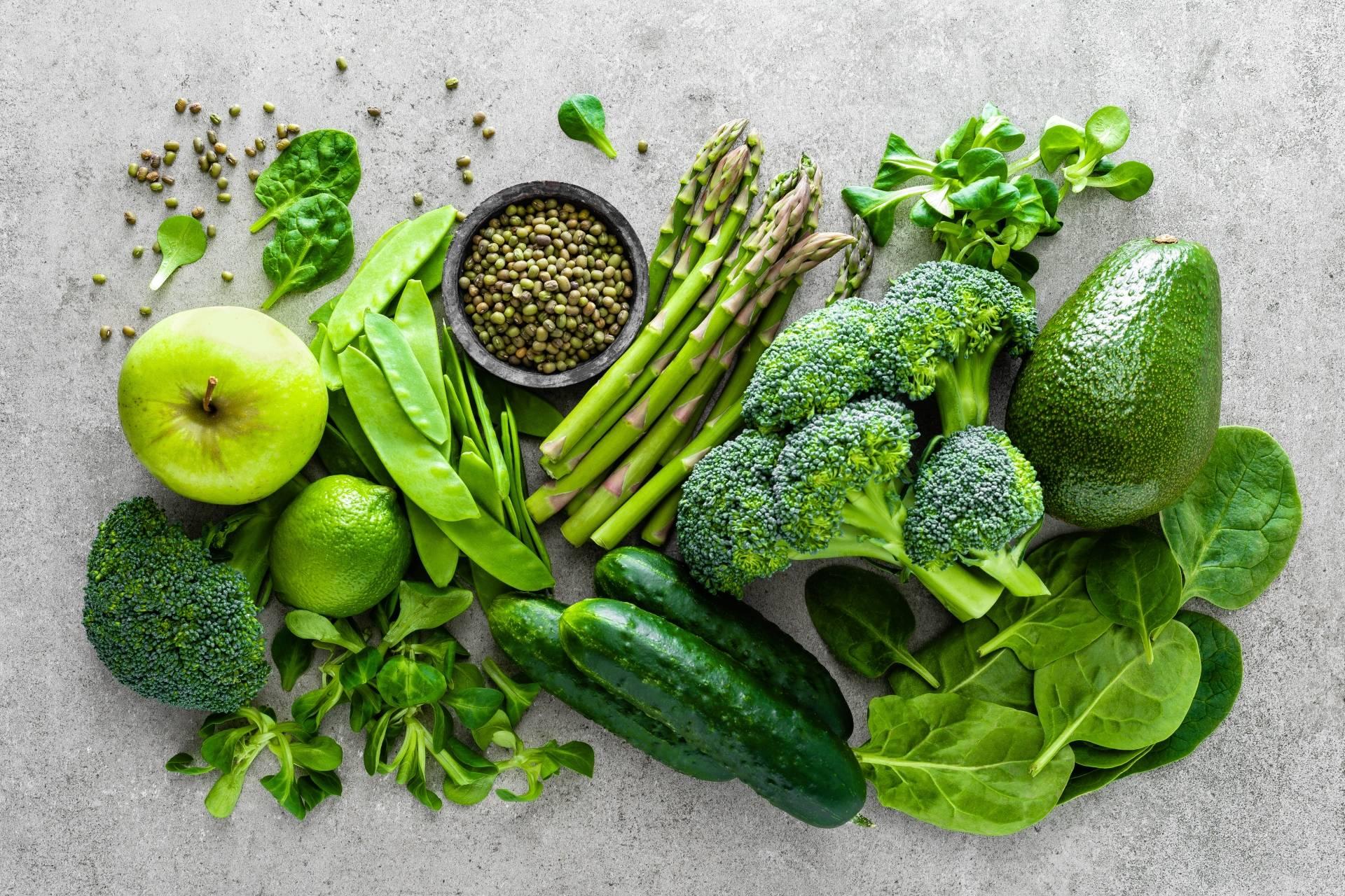Dieta na stres - zielone warzywa