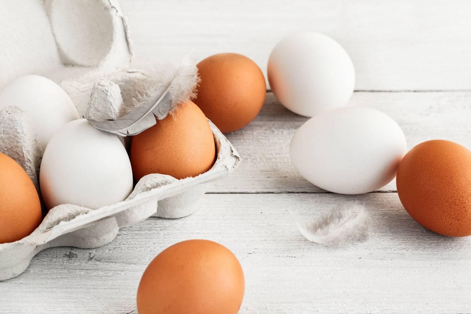 Biotyna jest w jajkach.