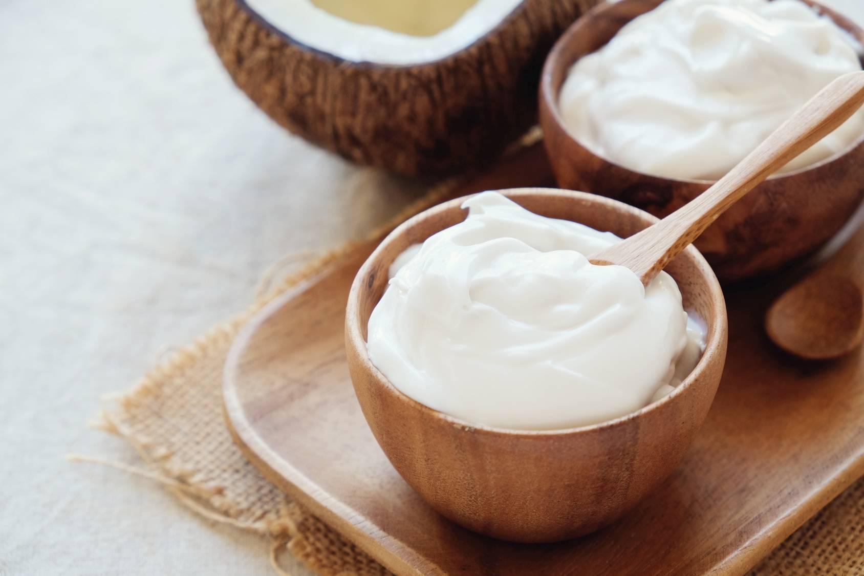 Produkty roślinne fermentowane - jogurt kokosowy