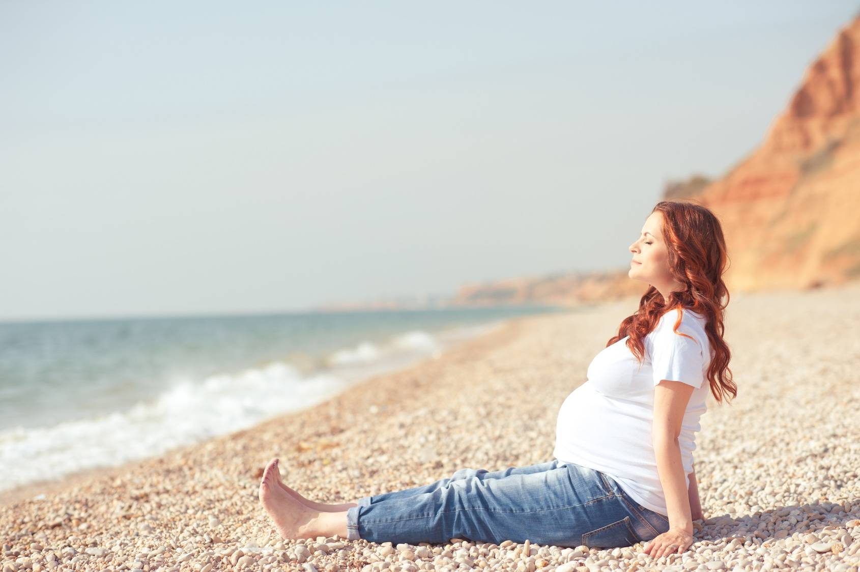 Oddech przeponowy na stres w ciąży.