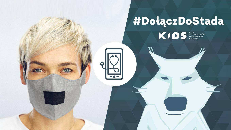 Maseczka z wilkiem - #dołączdostada - akcja Fundacji K.I.D.S.