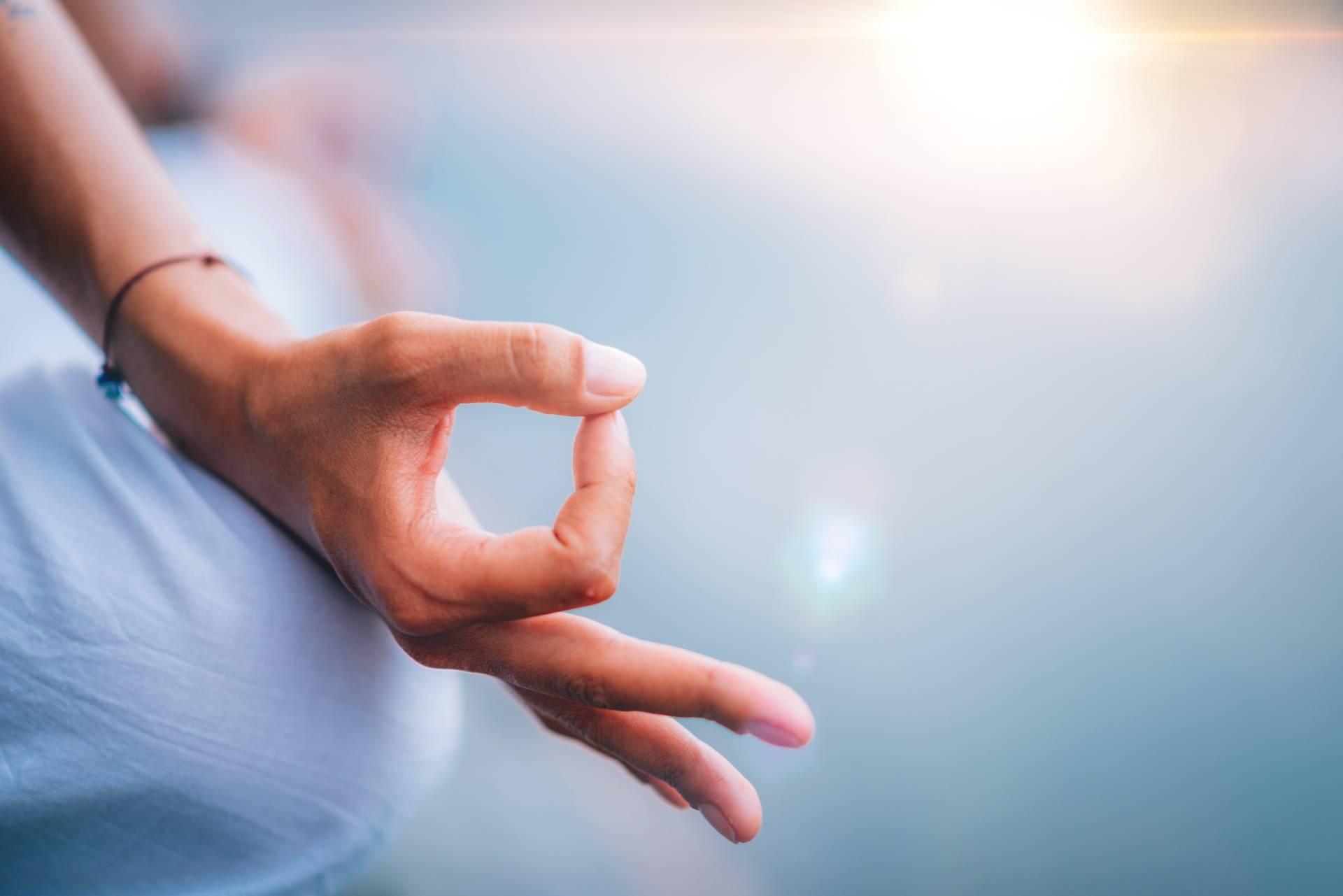 Mudry dłoni - gesty życia. Mudra w pozycji lotosu.