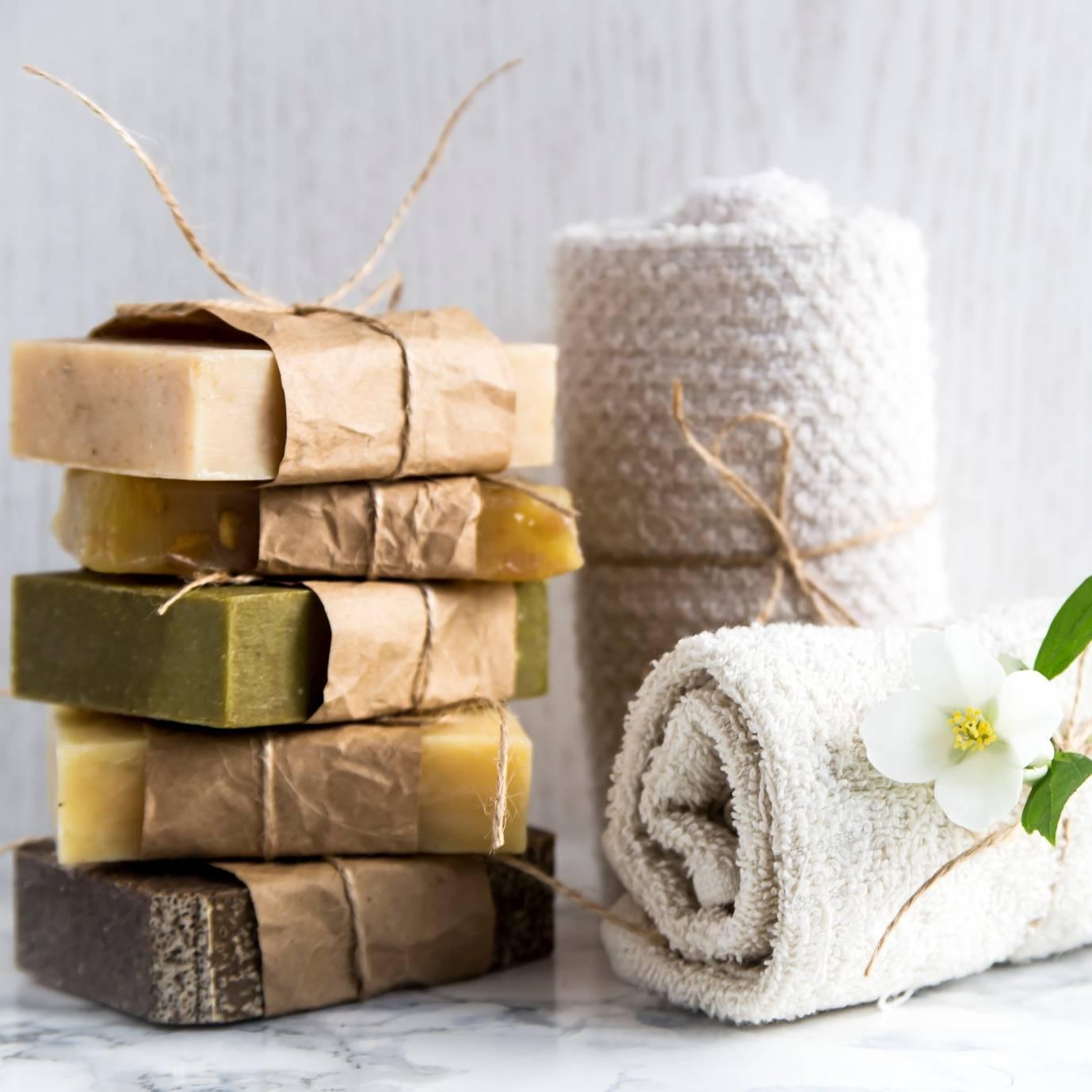 Ręcznie robione mydło naturalne.