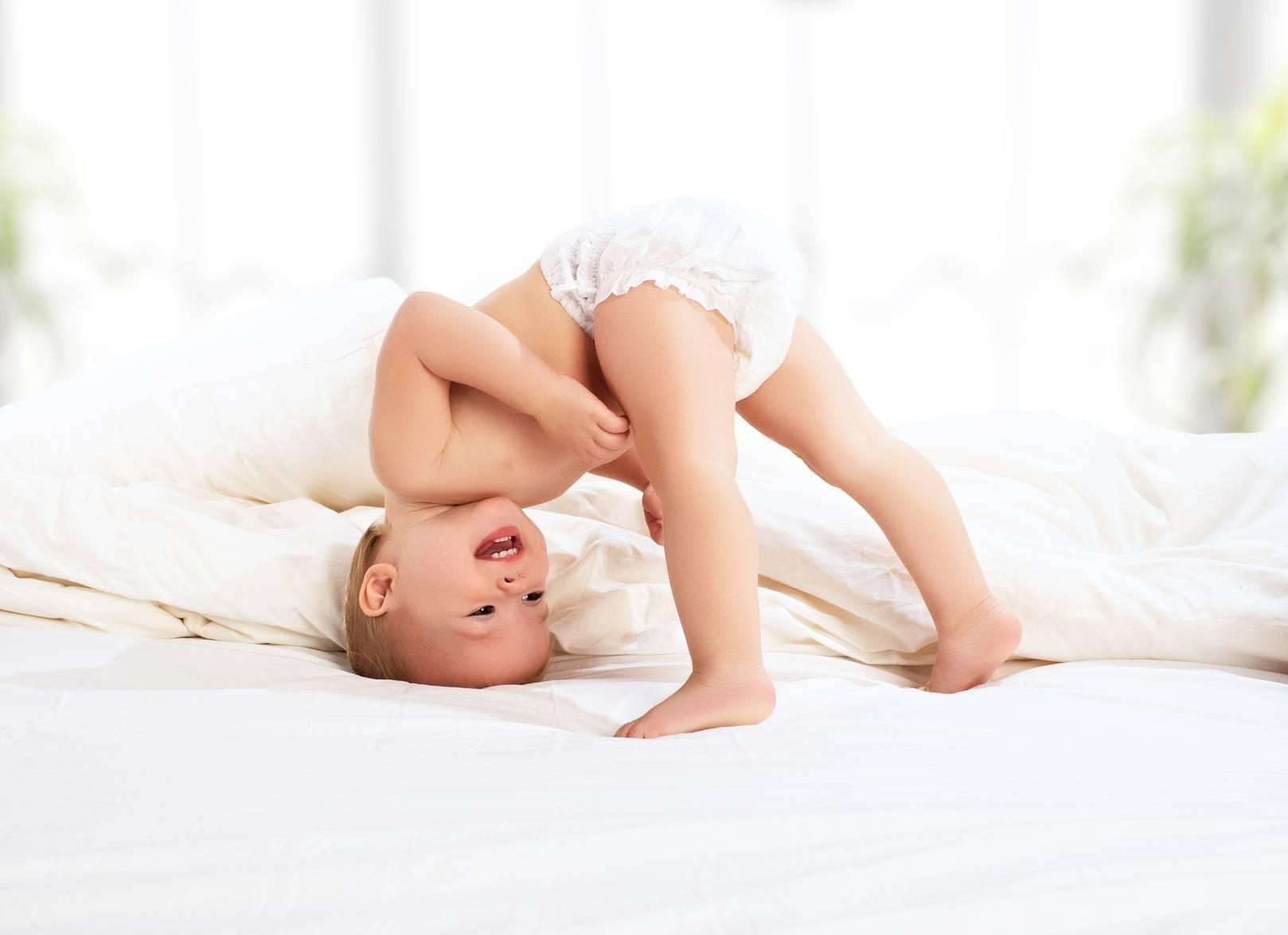Pieluszkowe zapalenie skóry u niemowląt.