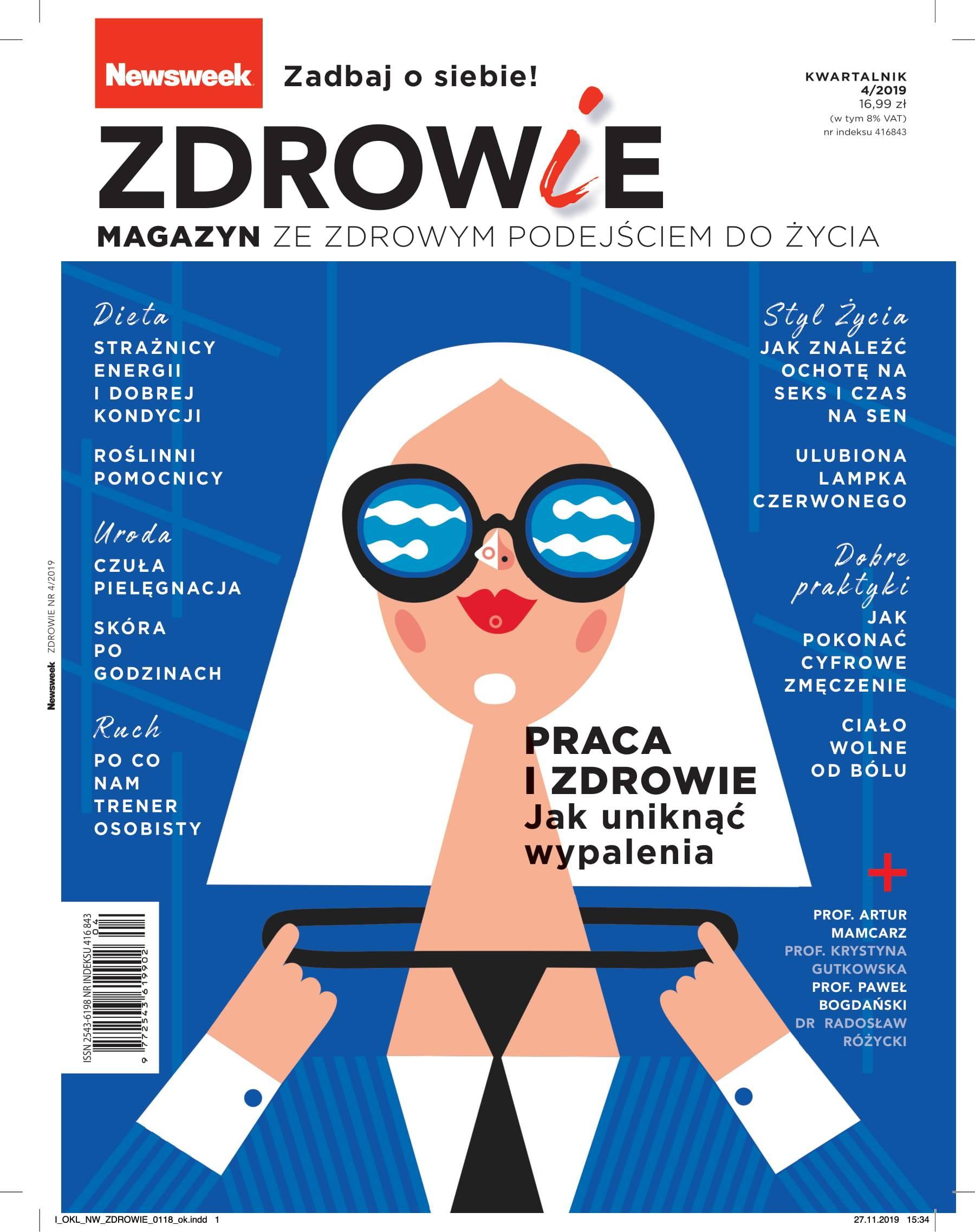 Okładka Newsweeka - Maski stresu.