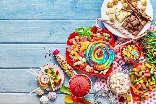 Syrop glukozowo-fruktozowy w żywności., głównie w słodyczach