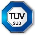 TÜV SÜD - znak gwarancji, że produkt nie zagraża zdrowiu.