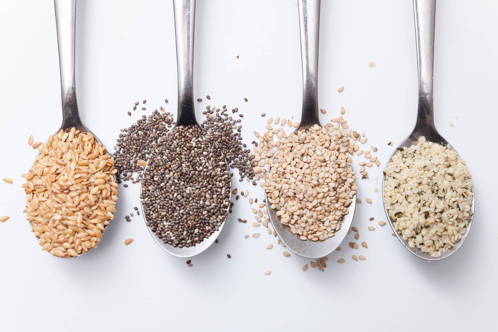 Zdrowe nasiona - chia, babki płesznik, siemię lniane.
